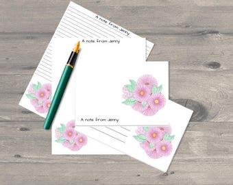 Daisy personalised letter writing set, letter writing paper set, letter writing stationary, letter writing paper, correspondence cards