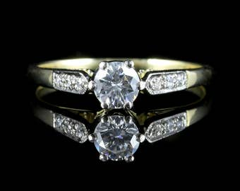 Antique Edwardian Diamond Ring 0.60ct Solitaire Diamond Engagement Ring