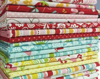 1/2 yard Bundle, Happy Day Fabric, Hand Cut, Riley Blake Designs, 21 pieces