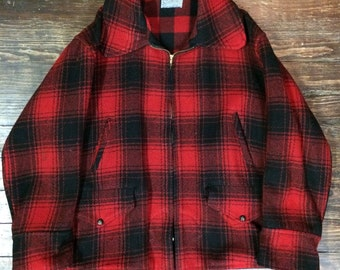 1940's JCPennys sportclad plaid hunting jacket