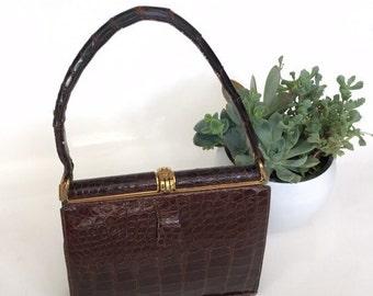 Vintage Lucille De Paris Alligator Handbag Alligator Purse