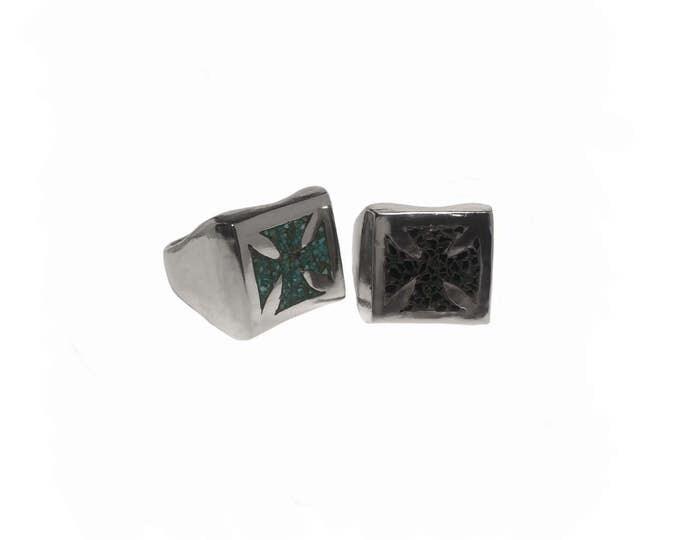 Iron Cross Inlay ring