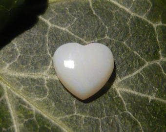 Opal Cabochon, 0.6ct Heart-shaped Australian Opal