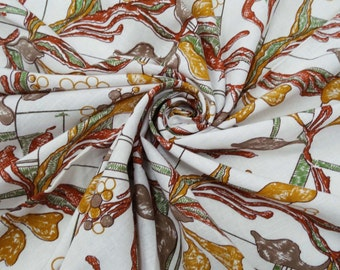 "Decorative Cotton Fabric For Sewing Designer White Floral Pattern Fabric Cotton 42"" Width Sewing Apparel Drape Dress By 1 Yard ZBC4361"
