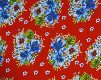 Dressmaking Fabric Cotton Fabric For Sewing Designer Red Cotton Fabric Floral Print Dressmaking Fabric Material Fabric By The Yard ZBC6154