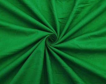 "Dark Green Fabric, Dress Material, Home Decor Fabric, Sewing Crafts, Ethnic Fabric, 43"" Inch Cotton Fabric By The Yard ZBC7598D"