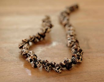 natural shell bead, natural bead, sea shell bead, natural jewelry, natural shell beads with dots texture