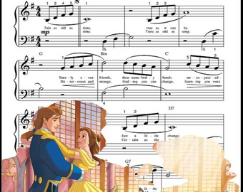 Beauty and the Beast Waltz Sheet Music: Digital Art