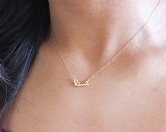 "Dainty ""love"" Necklace"