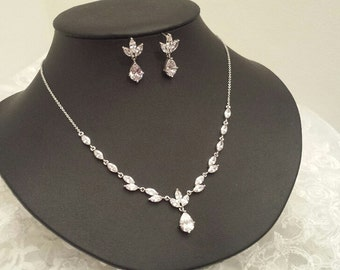 Cubic Zirconia Jewelry Set, CZ Wedding Jewelry (CZ559039)