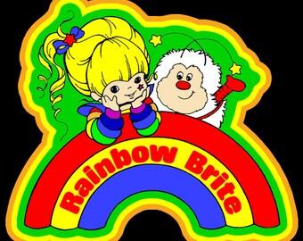 80's Cartoon Classic Rainbow Brite & Sprite custom tee Any Size Any Color