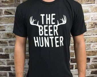 Beer Hunter Shirt, Triblend Shirt, Hunting Shirt, Beer Shirt, Funny Shirt, Groomsman Gift, Bridesmaid Gift, Christmas Gift, Beer
