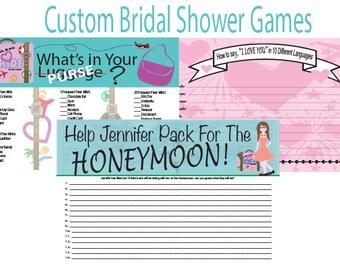 Custom Bridal Shower Games - Bride - Game - Customizable - Change colors/hair/dress