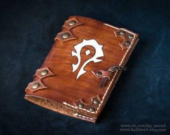 World of Warcraft passport cover, Warcraft horde passport holder, Wow cosplay leather cover, Warcraft merchandise, Warcraft Horde Geek Gift