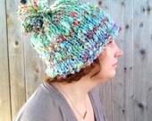 winter hat, women's winter hat, boho winter hat, boho winter fashion, knit hat, hand knit hat, handmade hat,