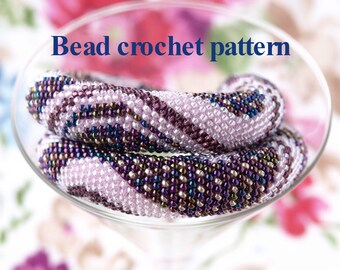 Bead crochet pattern PDF tutorial Diy jewelry DIY necklace Jewelry making Seed bead pattern Beading pattern Bead crochet rope