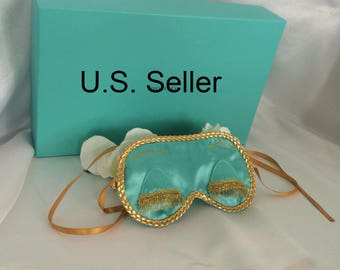 Holly Golightly - Breakfast at Tiffany's inspired satin sleep mask blind fold with eyelashes - Audrey Hepburn - Tiffany
