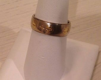 STERLING SILVER MILOR (Italy) Band with Screw Design...Size 8-3/4