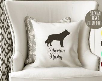 Personalized Siberian Husky Pillow Cover