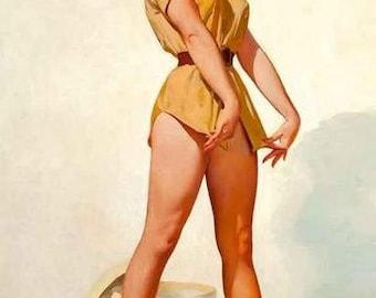 Pin-Up Girl On Safari Rare Vintage Poster
