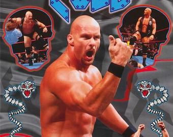Wrestling WWF Stone Cold Steve Austin Montage Poster