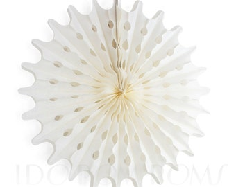 Seashell - Ivory - Cream - Champagne Tissue Paper Fans - Rosettes - Pinwheels - Wedding Party Decorations - Backdrop Decorations