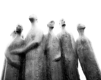 Oslo Black White Photo limited edition print fathers day gift for Dad paper anniversary gift Statues of Oslo Norway photo black white print