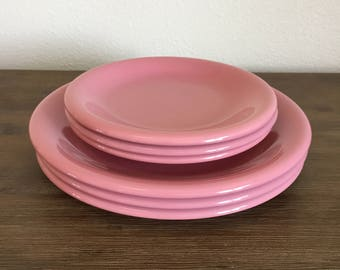 Vintage Plates; Baker, Hart & Stuart Plates; Pink Plates; Wedding Decor; Babyshower Decor; Gender Reveal