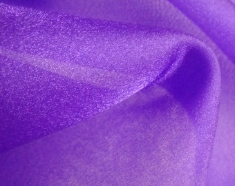 Purple Organza Fabric