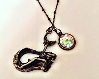 Vintage Mermaid Necklace