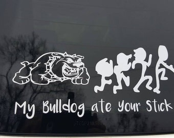 Bulldog, Vinyl Decal, Vinyl Sticker, Window Decal, Car Decal, Laptop Decal, Window Sticker, Car Sticker, Stick Family