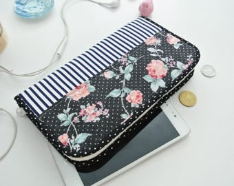 Night Blossom Multipurpose Wallet, Smartphone Wallet, Passport Wallet, Power Bank Holder, Wallet Organizer, Gift for Her, Made to Order