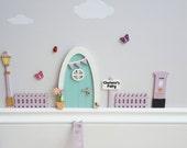 Fairy door kit with personalised signpost  fairy house  fairy accessories  tooth fairy elf  indoor fairy door