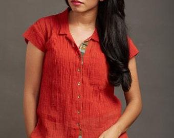 Firefly Crepe Shirt