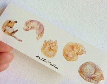Cats Napping - Temporary Tattoos // Cute // Animals // Kittens // Tumblr Style // Summer // Party