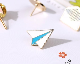 Paper Plane - Enamel Pin // Plane // Badge, Brooch, Lapel Pin, Backpack Pin // Cute & Funky Accessories