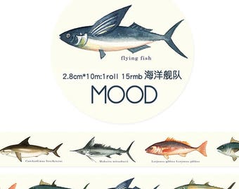 Flying Fish // Decorative Washi Tape // Scrapbook, Journal, Planner Essentials
