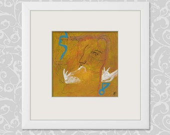 Nice series - abstract pictures 15/15 cm (5.9/5.9 inch) art mural