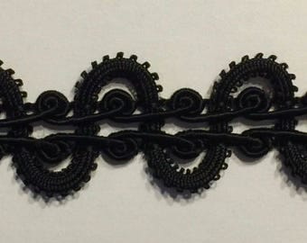 Designer Braid Gimp Trim Color Options: Red, Black, White and Beige - MADE IN USA - 10 Continuous Yard Put-ups
