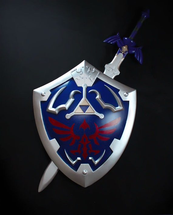 legend of zelda hylian shield amp master sword