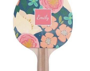 Custom Ping Pong Paddle, Personalized Game Paddle, Monogram Ping Pong Paddle, Personalized Gift