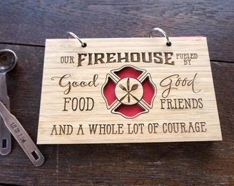 Fire house Fundraiser Recipe Book, Volunteer Firefighter's Recipe Book, Gift for Firefighters EMS workers, Fire station Recipe Book,