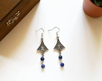 Elven Earrings: Countess Nefi (Lapis Lazuli)
