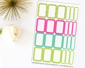 Summer Pop Half Boxes | Made to fit any planner 641L5