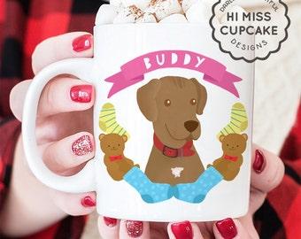 Personalized Pet Portrait Mug - Gift for Pet Lover - Gift for Dog lover - Dog Mug - Custom Cat Mug, 15 oz. Ceramic mug with Pet Illustration