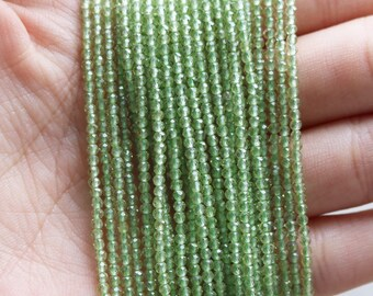 2mm Peridot, Peridot Beads, Natural Peridot, 2mm Peridot Beads, Genuine Peridot, 2mm Gemstone, 2mm Beads, 2mm Faceted Beads, Green Beads