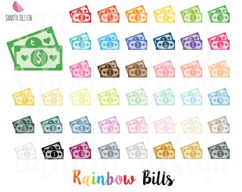 43 Rainbow Bills clipart. Personal and comercial use.