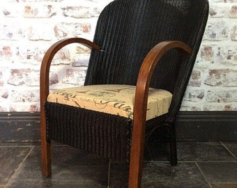 Llloyd loom style hand painted chair