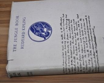 The Jungle Book by Rudyard Kipling. Vintage Kipling Book.  1935. Hardcover with dust cover.