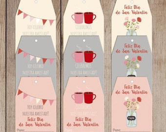 Printable Valentine Tags SPANISH***INSTANT DOWNLOAD***